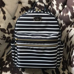 Kate Spade Wilson Road French Stripe Backpack